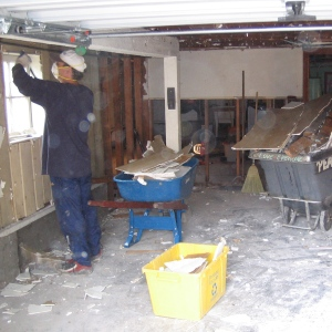 gutting the basement