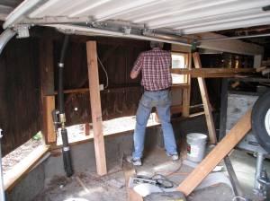 replacing the original beams and sills