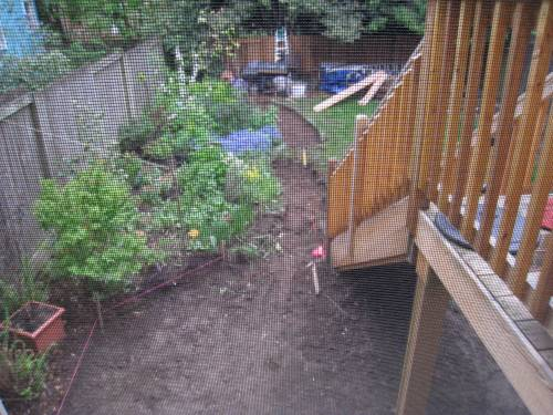 compacted patio base