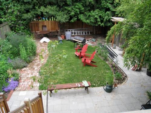 patio and brick path