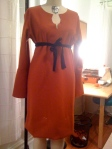 pumpkin dress in the works